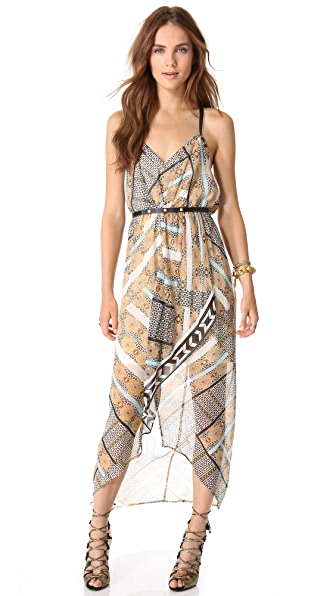 Twelfth St. by Cynthia Vincent Leather Harness Flounce Dress