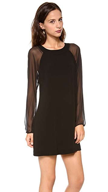 Twelfth St. by Cynthia Vincent Sheer Sleeve Shift Dress
