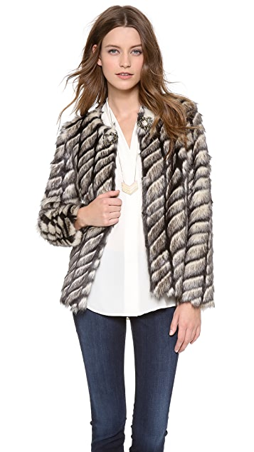 Twelfth St. by Cynthia Vincent Faux Fur Jacket