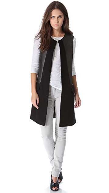 Twelfth St. by Cynthia Vincent Wool & Leather Vest