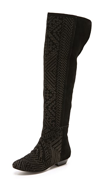 Twelfth St. by Cynthia Vincent Daire Over the Knee Suede Boots
