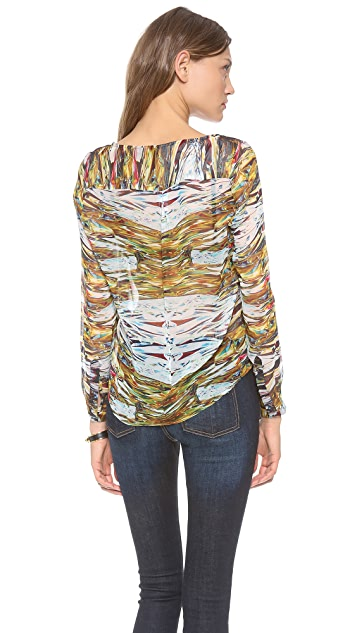 Twelfth St. by Cynthia Vincent Bib Front Blouse