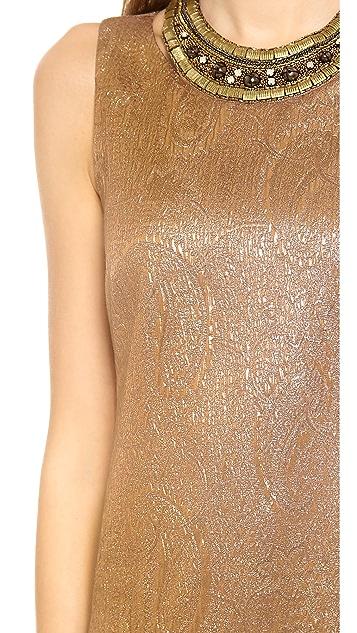 Twelfth St. by Cynthia Vincent Embellished Drop Waist Dress