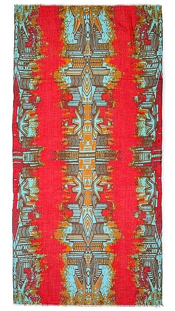 Twelfth St. by Cynthia Vincent Aztec Bird Scarf