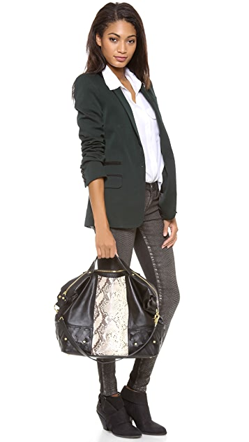Twelfth St. by Cynthia Vincent Embossed Snake Satchel
