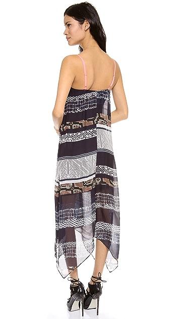 Twelfth St. by Cynthia Vincent Handkerchief Midi Dress