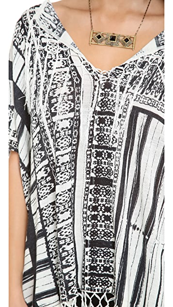 Twelfth St. by Cynthia Vincent Oversized Fringe Sweater