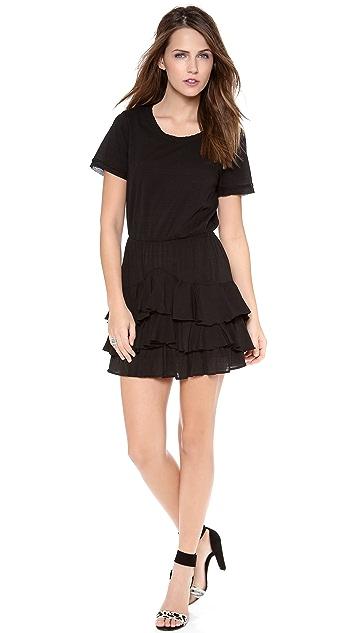 Twelfth St. by Cynthia Vincent Short Sleeve Ruffle Mini Dress