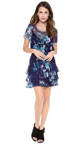 Twelfth St. by Cynthia Vincent Short Sleeve Ruffle Dress