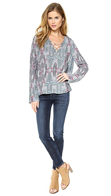 Twelfth St. by Cynthia Vincent Tie Front Blouse