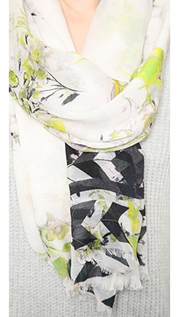 Twelfth St. by Cynthia Vincent Floral Border Scarf