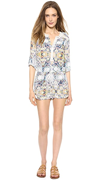 Twelfth St. by Cynthia Vincent Lace Inset Romper
