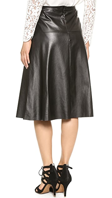 Twelfth St. by Cynthia Vincent Faux Leather Man Catcher Skirt