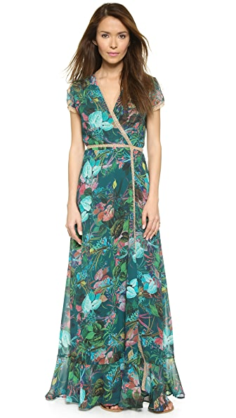 Twelfth St. by Cynthia Vincent Wrap Maxi Dress