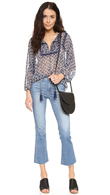 Twelfth St. by Cynthia Vincent Tie Front Peasant Top