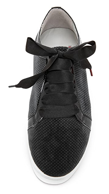 Twins for Peace Boubou Textured Velvet Sneakers