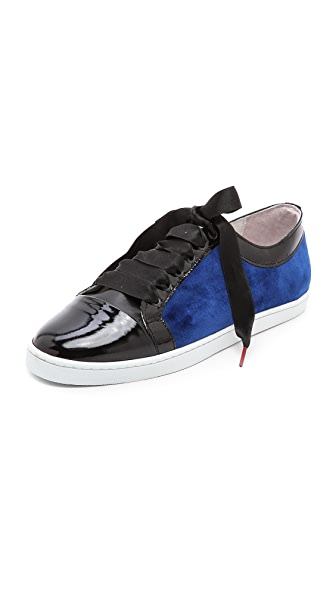 Twins for Peace Bou Bou Velvet Sneakers