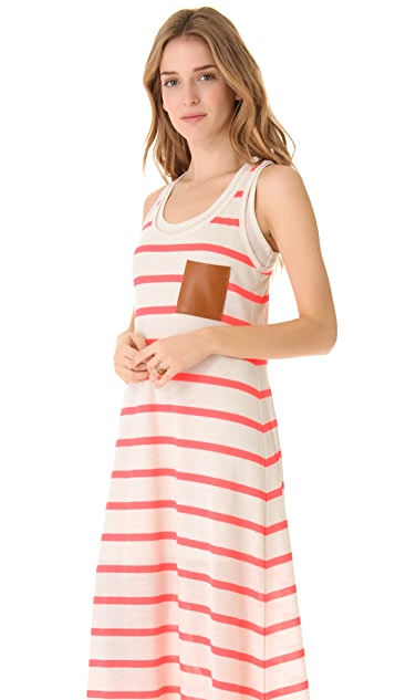 Twenty Leather Pocket Maxi Dress