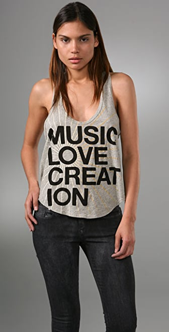 291 Music Love Creation Cropped Tank