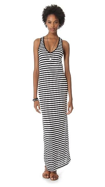 291 Stripe Racer Back Maxi Dress