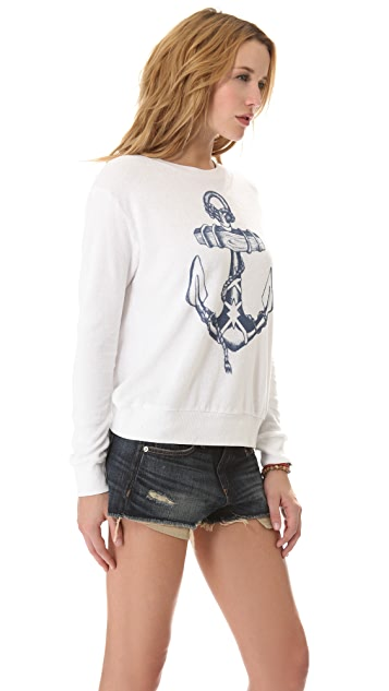 291 Anchor Cross Back Pullover