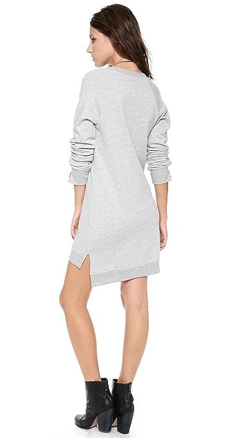 291 Long Sleeve Uneven Hem Dress