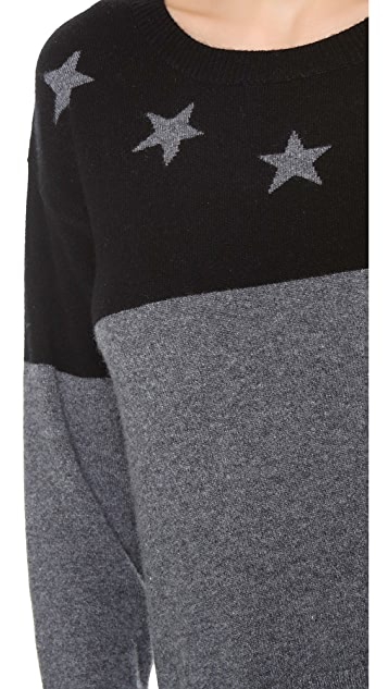 291 Neck Star Cashmere Pullover