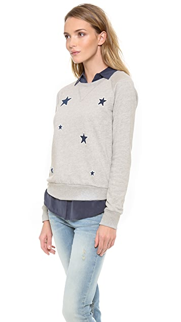 291 Allover Stars Long Sleeve Pullover