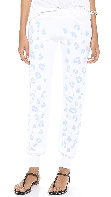 291 Leopard Slim Track Pants