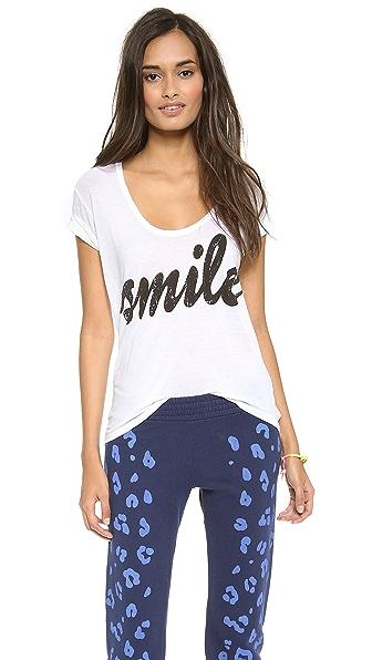291 Smile Uneven Hem Tee