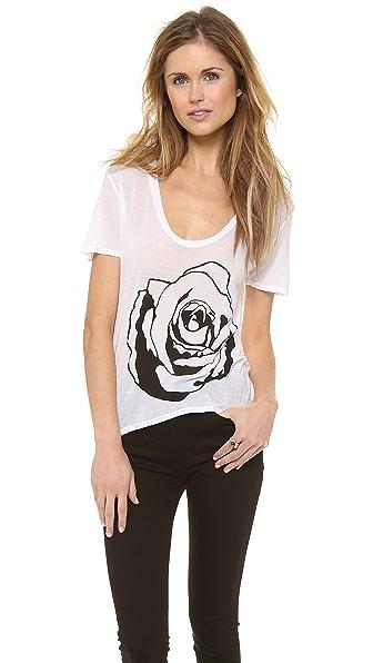 291 Rose Uneven Hem Tee