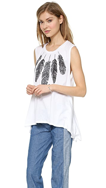 291 Feather Necklace Top