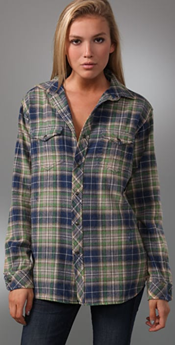 TEXTILE Elizabeth and James Blake Plaid Shirt