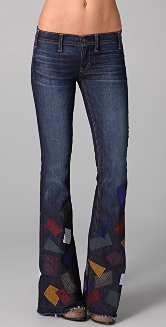 TEXTILE Elizabeth and James Patched Jimi Flare Jeans
