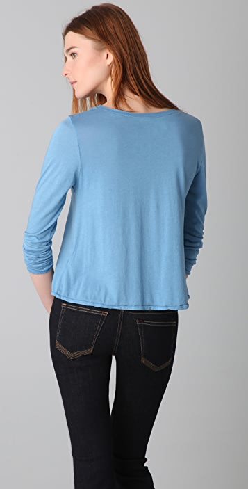 TEXTILE Elizabeth and James Long Sleeve Pocket Fairfax Tee