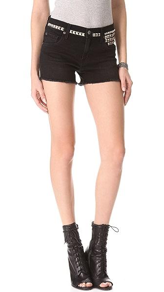 TEXTILE Elizabeth and James Studded Ruby Denim Shorts