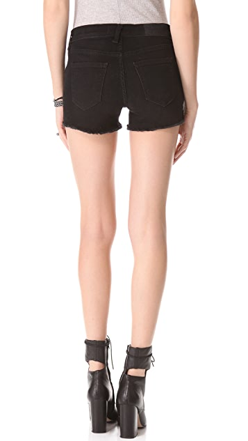 TEXTILE Elizabeth and James Studded Ruby Denim Shorts