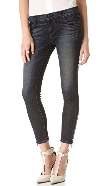 TEXTILE Elizabeth and James Davis Ankle Skinny with Zippers