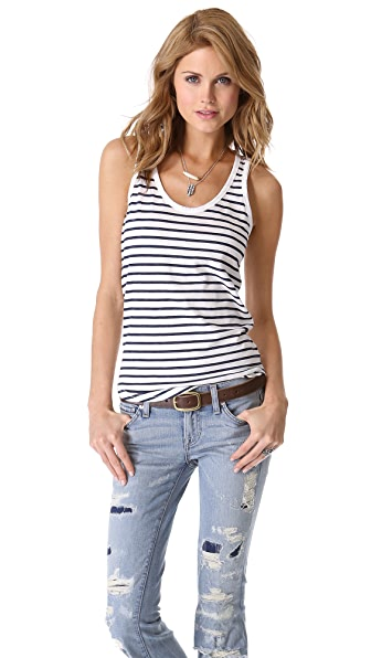 TEXTILE Elizabeth and James Striped Hudson Tank