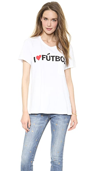 TEXTILE Elizabeth and James I Heart Futbol Bowery Tee