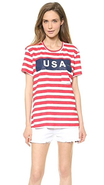 TEXTILE Elizabeth and James USA Wide Stripe Bowery Tee