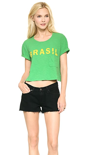 TEXTILE Elizabeth and James Cropped Brasil Tee