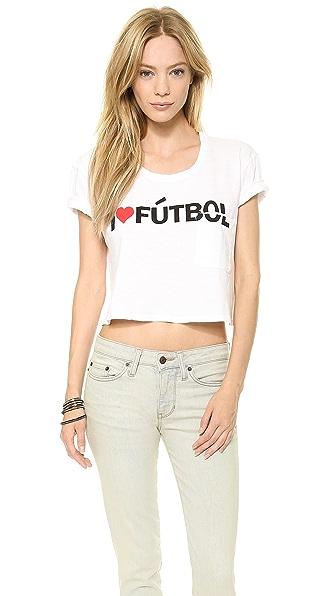 TEXTILE Elizabeth and James Cropped I Heart Futbol Tee