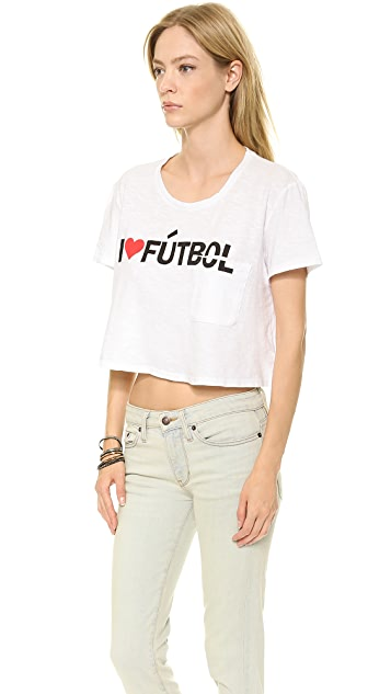 TEXTILE Elizabeth and James Cropped I Heart Futbol Tee