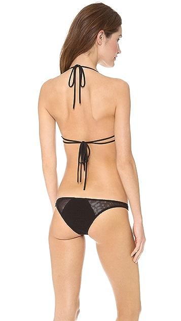 Tyler Rose Swimwear Tucker Cutout Mesh Bikini Top