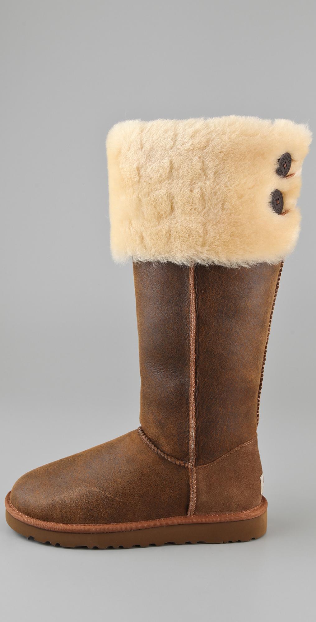 6bcb81acaa4 UGG Australia Over the Knee Bailey Button Boots | SHOPBOP