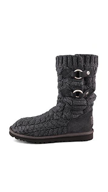 UGG Australia Tularosa Route Cable Knit Boots