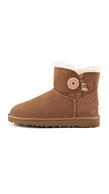 UGG Australia Mini Bailey Button Booties