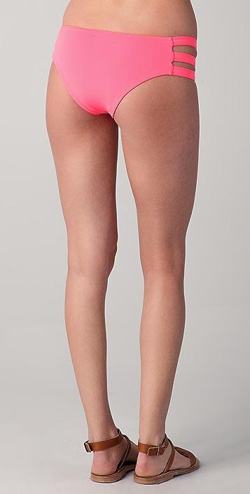 Undrest Rio Caged Zip Up Bikini Bottoms