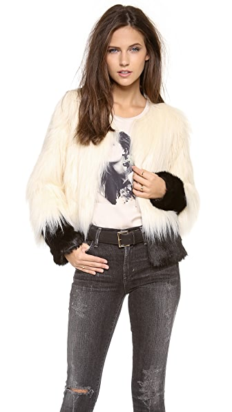 Unreal Fur Fire & Ice Faux Fur Jacket
